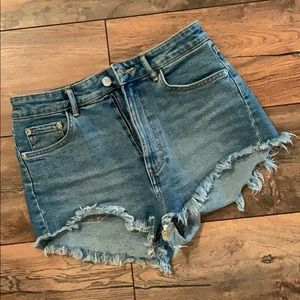 Zara size 6 high wasted jean shorts